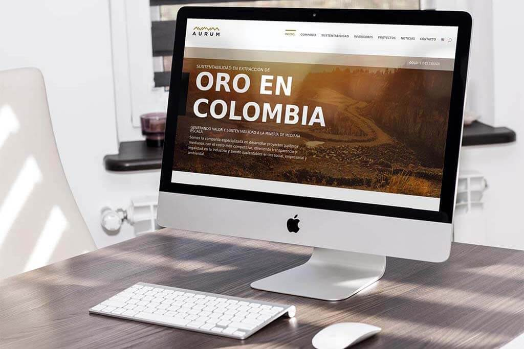 Aurum Corp. (Colombia) - Diseño Web en Divi (JR Lemus)